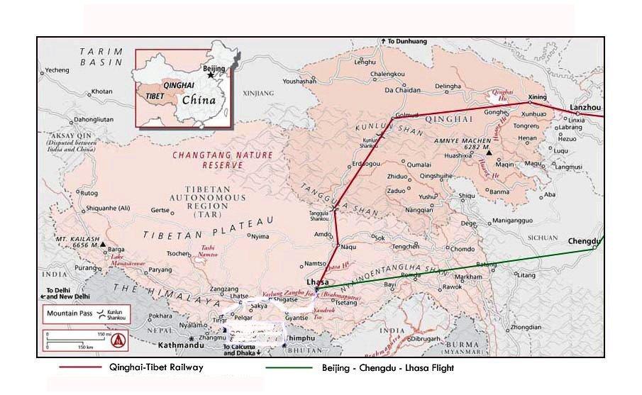 Die Xining Lhasa Strecke