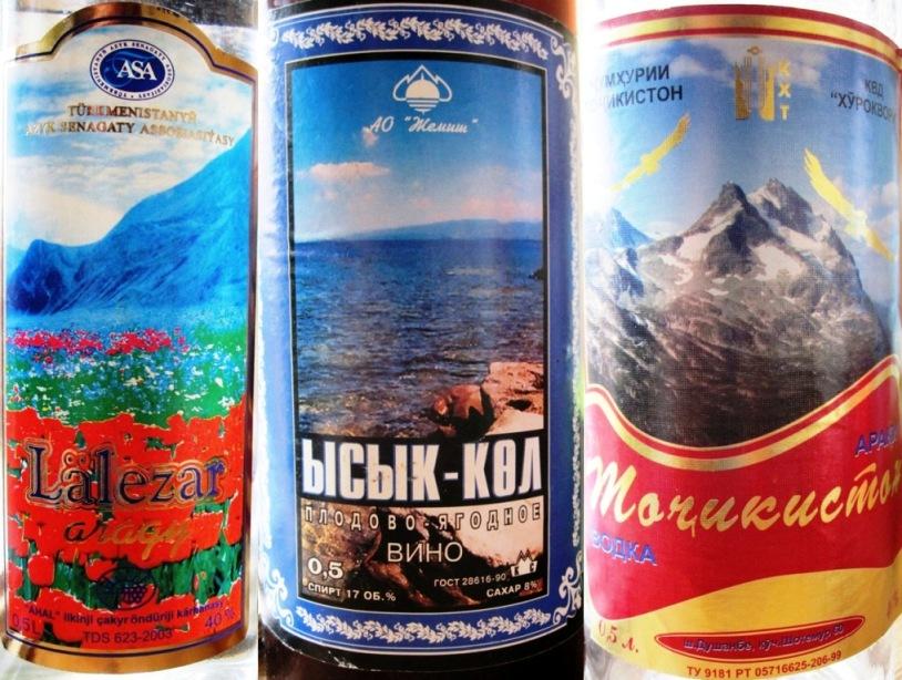 Laleza Wodka, Ysyk Kol Wein und Tochikiston Wodka