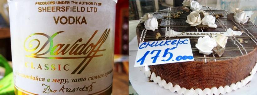 Davidoff Wodka und Snickers Torte