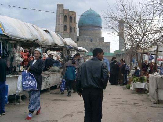 Die Tragetasche in Samarkand