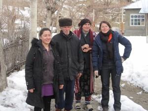 Abschiedsbild mit Aleksejs Eltern