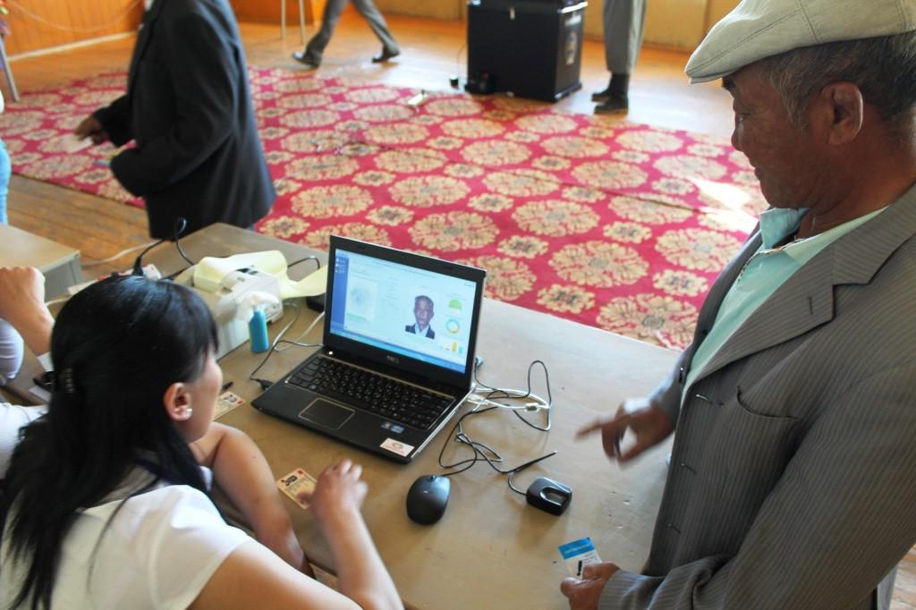 Wählerregistrierung in Naranbulag