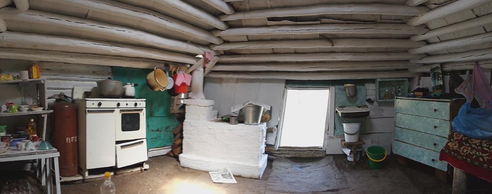 Ansicht einer Sommerküche von Innen