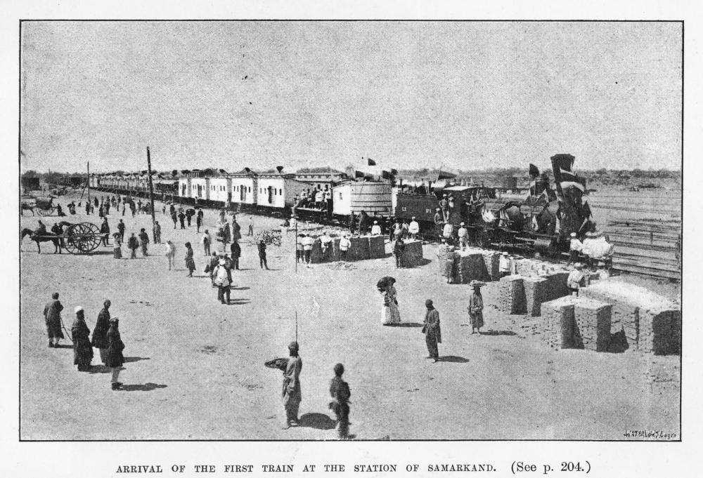 Die Eisenbahn erreicht Samarkand 1888